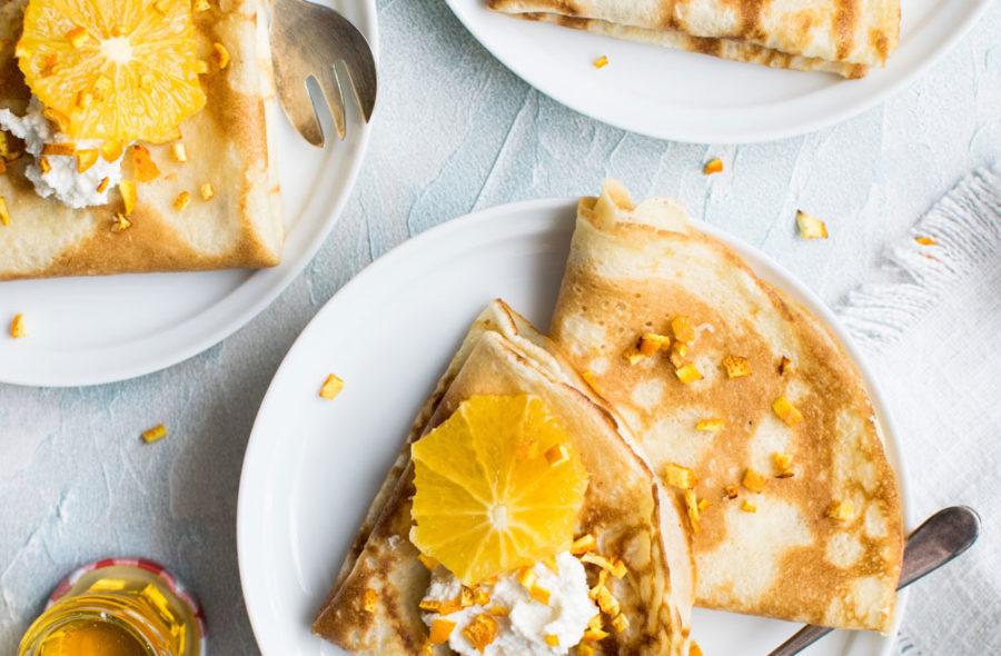 Crêpes à l'orange et au miel