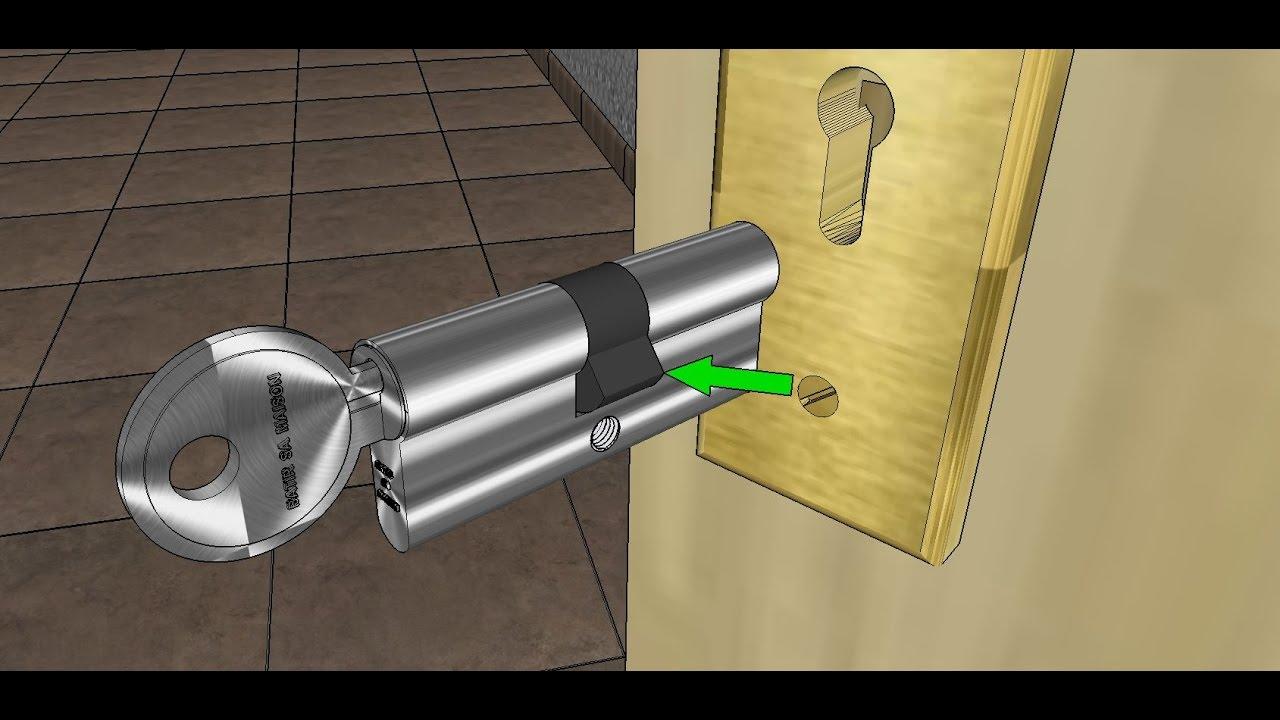 Comment changer un cylindre de serrure ?